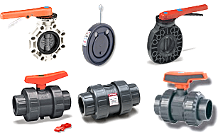 Includes ball valves, ball checks, spring checks, wafer checks, and butterfly valves.