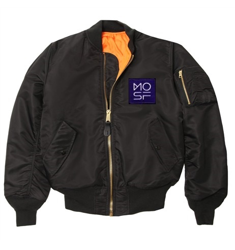$299 Museum of Science Fiction MA-1 flight jacket The MA-1 flight jacket was the first military fighter pilot jacket to cross over into civilian fashion. MA-1 jackets are reversible to bright orange, making them ideal for rescue missions and other times when visibility is imperative. This museum version has been kept as close as possible to the classic specifications (dating back to the early 1950's) and also received several revisions during the 1960's. When ordering, please specify any special requests and required size to info@museumofsciencefiction.org Available sizes Men's  XS S M L XL 2X 3X  4X  5X Women's  XS S M L XL 2X Children  2T 3T 4T 4/5 YS-6/8 YM-10/12 YL-14/16 XL-18/20