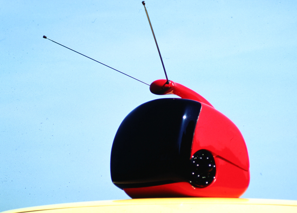 TV with swiveling screen, January 1980 Luigi Colani (design) & Malcolm Kirk (photo)