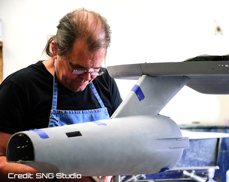 Steve Neill, studio model builder and member of the Museum's Model Construction Subcommittee.