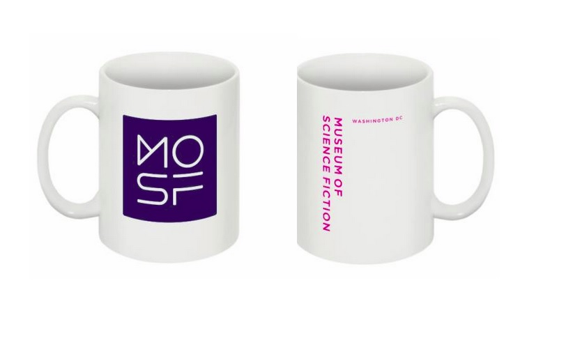 $30 Museum of Science Fiction coffee mug, which we're told may work in zero-g.