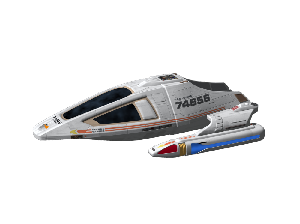 Shuttlecraft CAD design and concept art by Wargo and Drexler