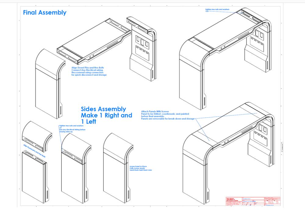 Holodeck Arch prop assembly art by Jeff Wargo