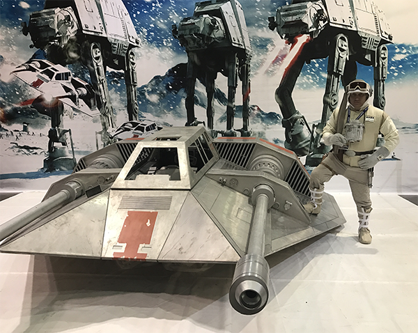A life-size Snowspeeder will be on display this year in the Gallery at Escape Velocity this coming Spring.
