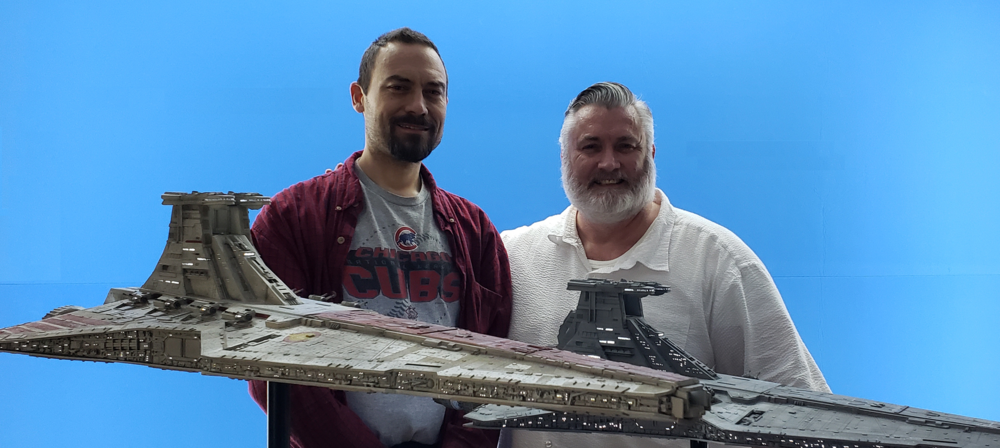 Dan Grumeretz (L) and Kurt Kuhn with Republic Star Destroyers