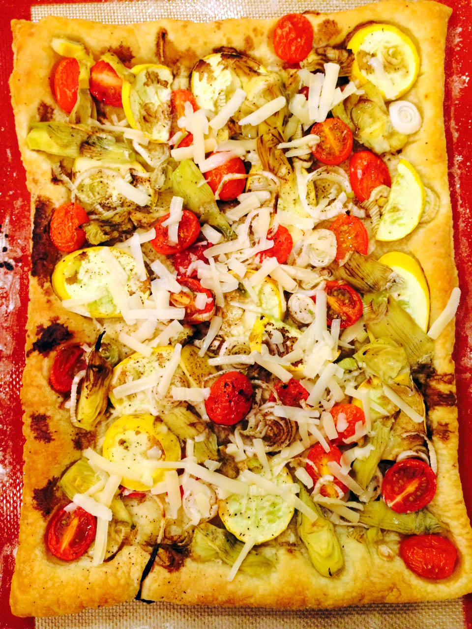 Roasted Vegetable Tart - Vegetarian Dinner Party Menu, Shiso Kitchen