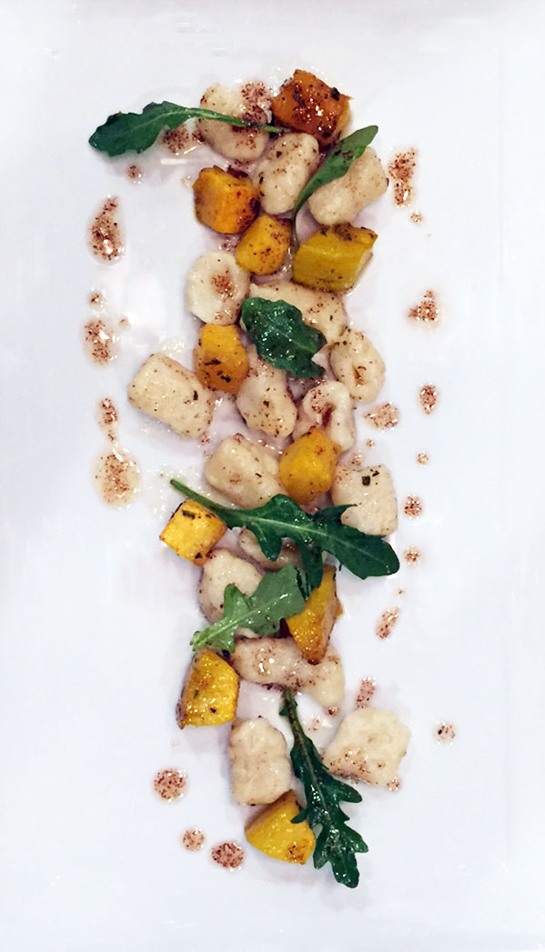 Handmade Gnocchi with Butternut Squash, Brown Butter and Arugula- from custom private event menu