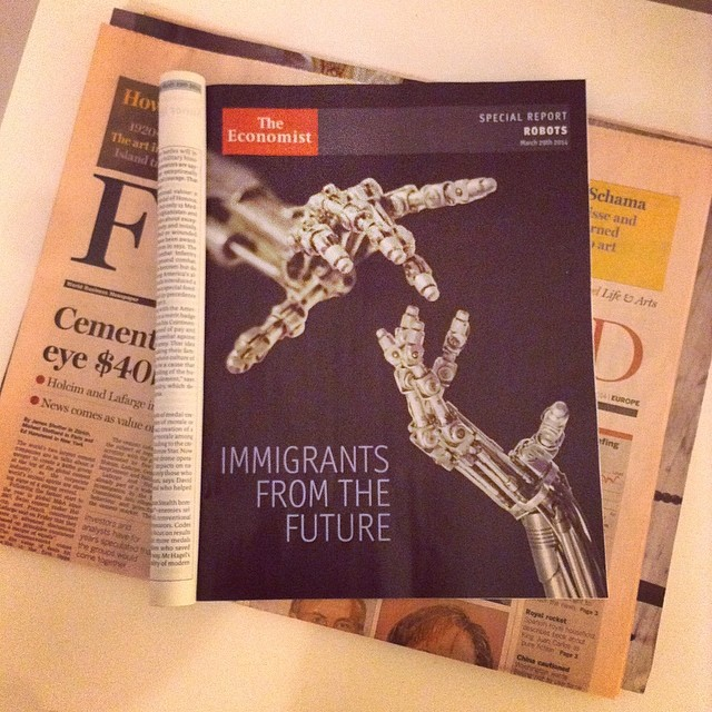 Juicy 14-page robotics report in this week's issue of the #Economist magazine.