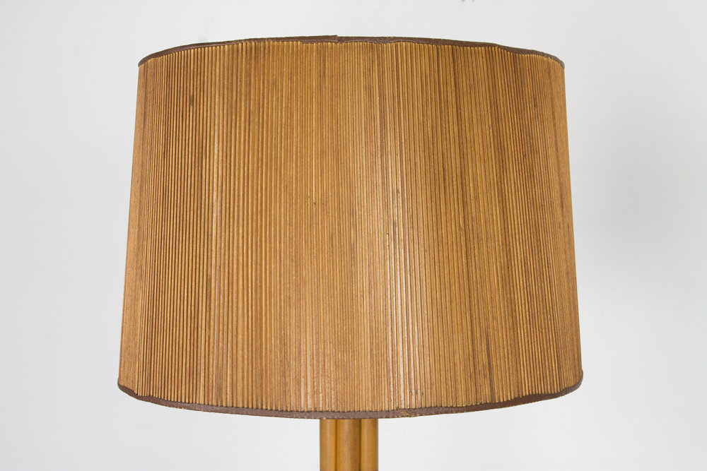 Bamboo Floor Lamp In The Manner Of Paul Frankl