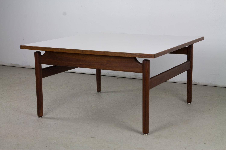 Jens risom walnut and laminate coffee table jens risom walnut and laminate coffee table geotapseo Choice Image