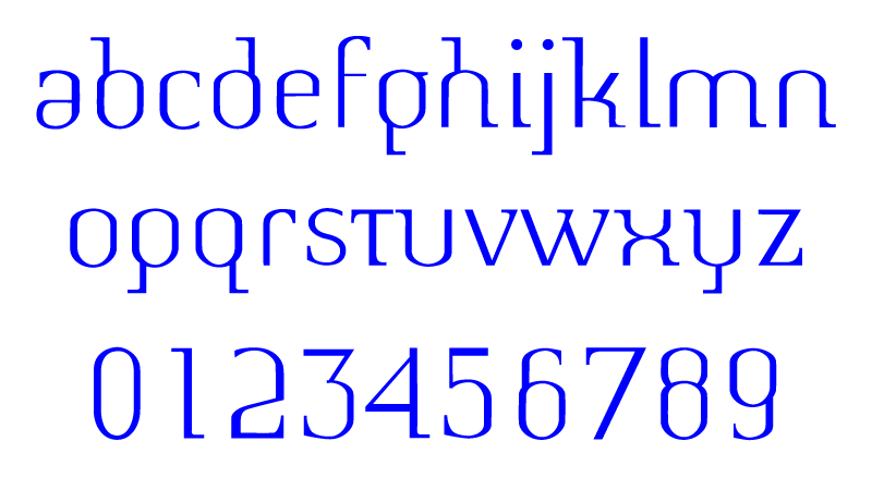 Medieval Metro: a typeface
