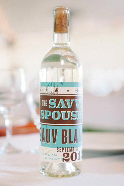 Wine label for sister's wedding See more on Martha Stewart Weddings Photo by Jeff Gleason