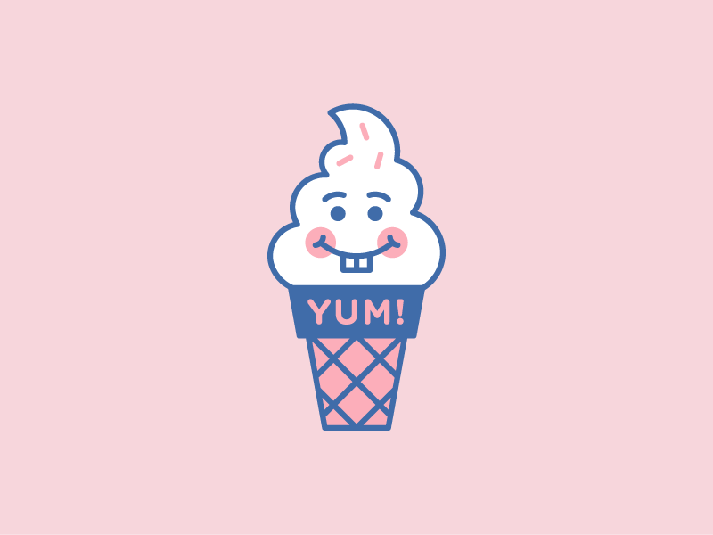 She died along with this soft serve logo concept.