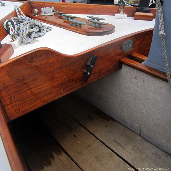Cape Cod Knockabout Brite Work