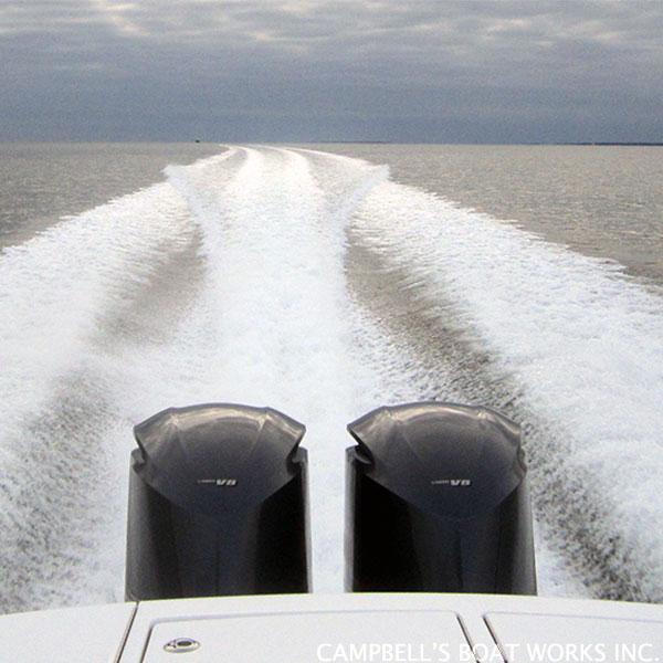 Boat Wake Entering Megansett Harbor, Cape Cod MA
