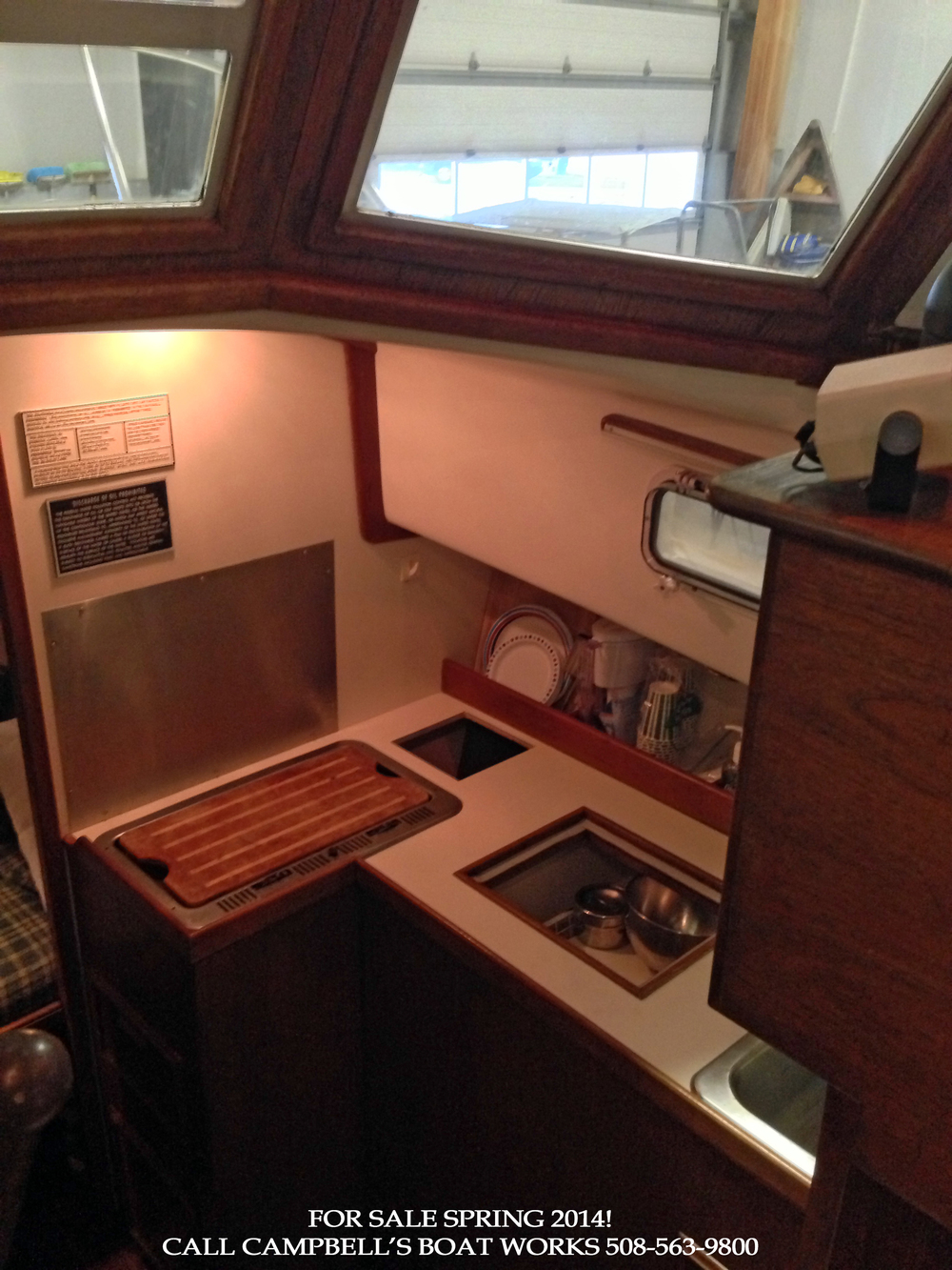 Galley of a Cape Dory 28 Hardtop For Sale