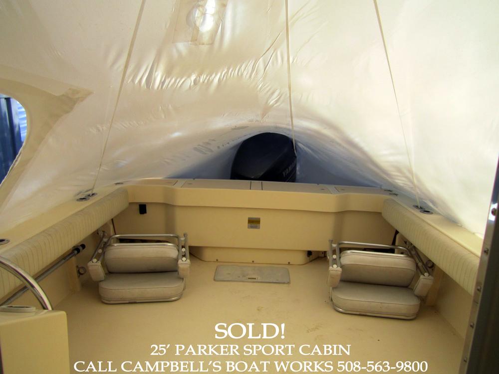 25' Parker Boat For Sale Aft Deck