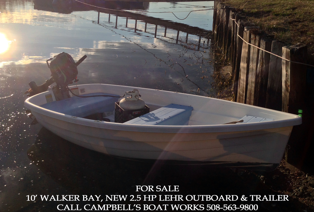 10' Walker Bay Dinghy New LEHR 2.5 Hp Outboard For Sale
