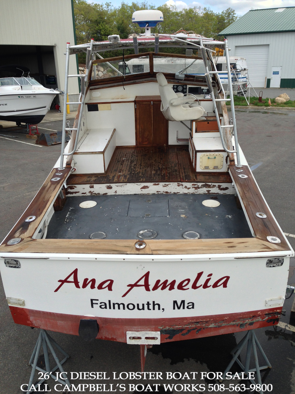 26' JC Downeast Lobster Boat For Sale.  Call us for more information or to come view this boat. 508-563-9800
