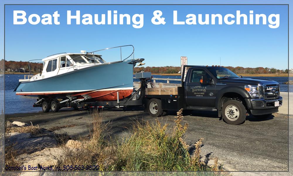 Boat Hauling Launching Transport Cape Cod