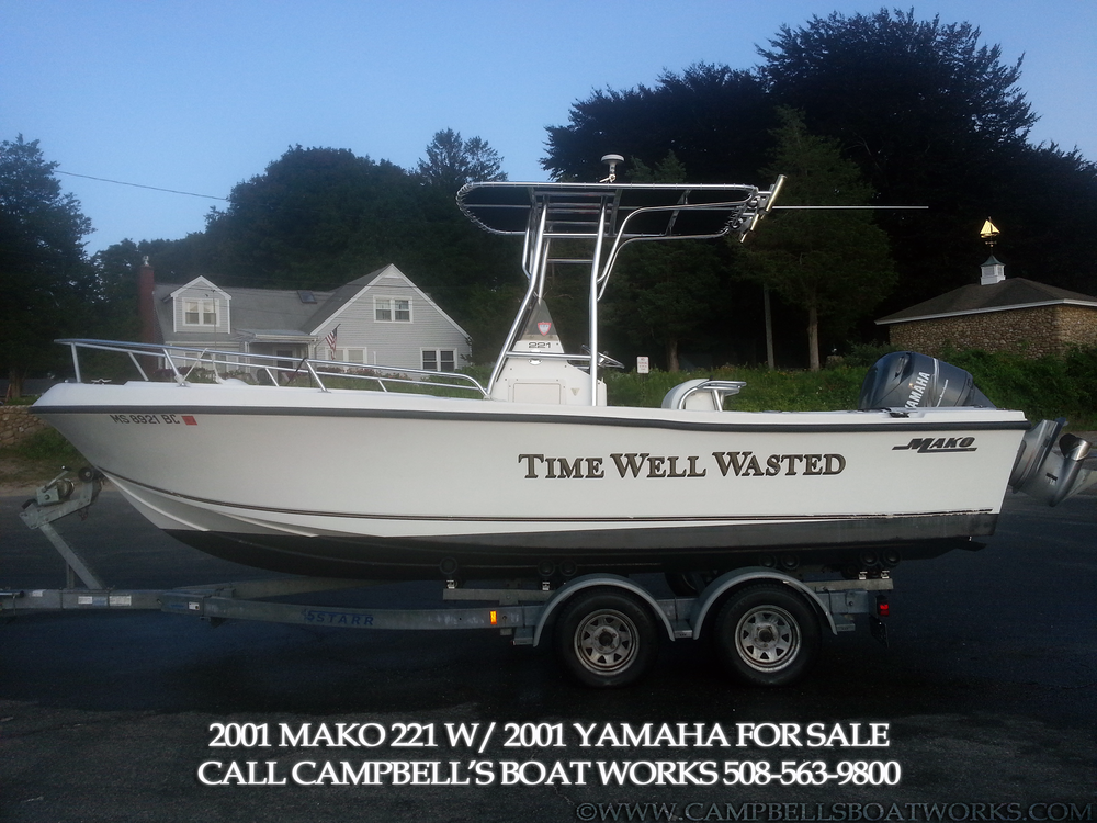 22 mako center console campbell 39 s boat works inc for Yamaha motor boats for sale