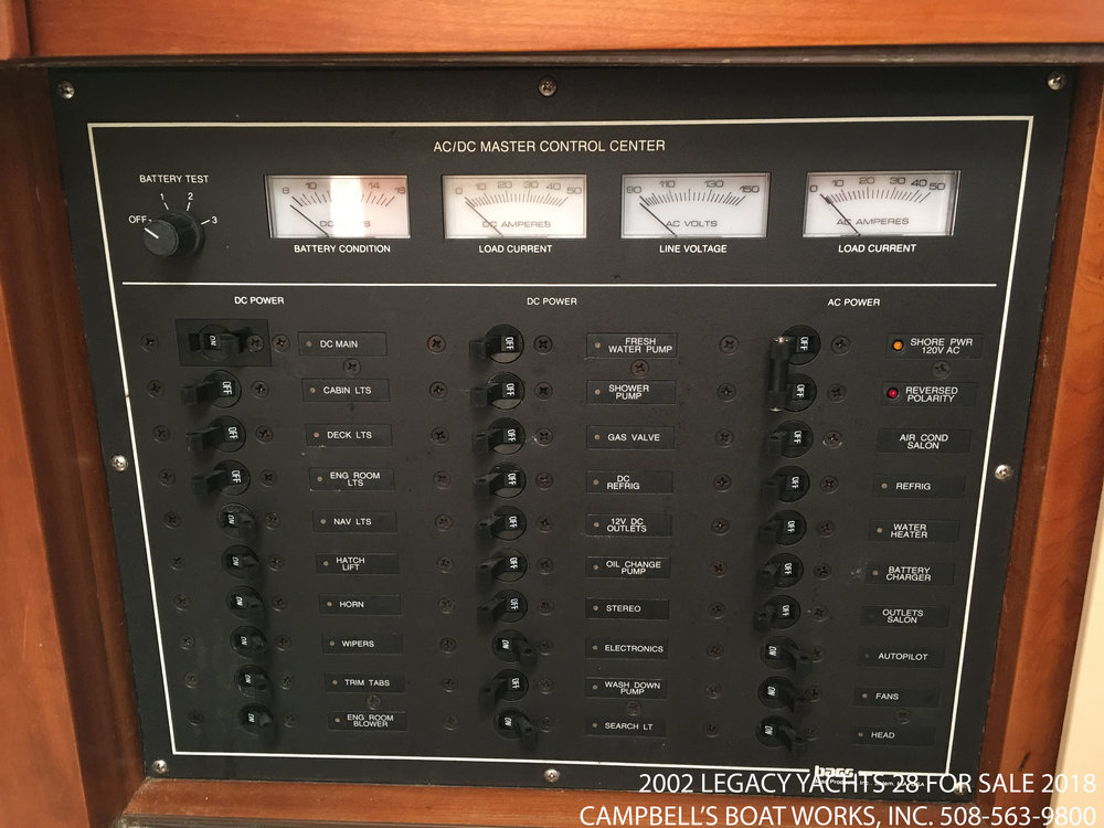 Legacy Yachts 28 Electrical Panel