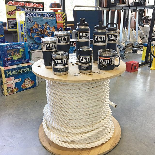 The NEW Navy Yeti drinkware is here in every size!  #keepyourdrinkcold #navyyeti #yeti #yetiramblers #yeticapecod #capecod #capecodsummer #capecodboating #fishing #boating @yeti #boatingsupplystore #capecodboatingsupply