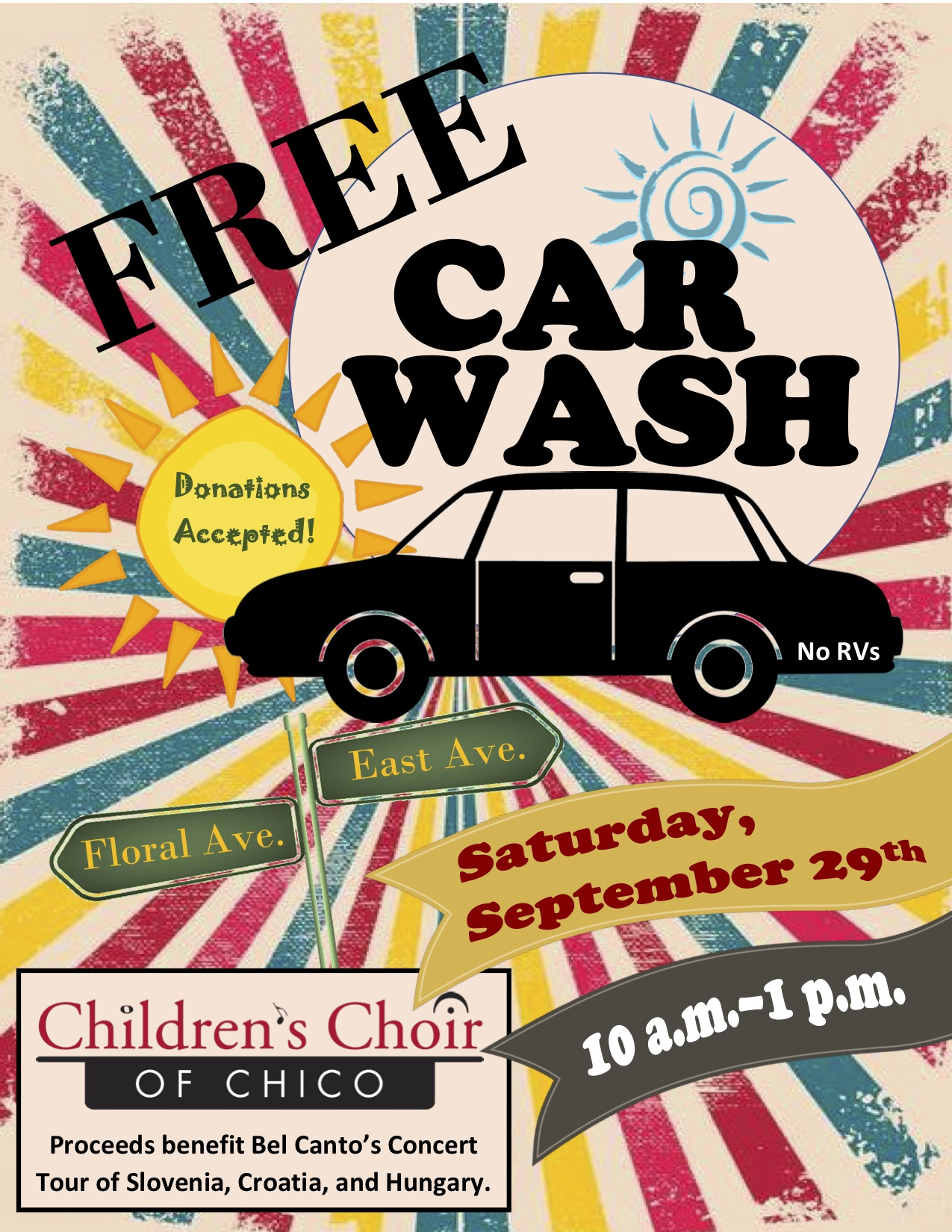 Car Wash Chico >> Car Wash Bel Canto Europe Tour Fundraiser Children S Choir Of Chico