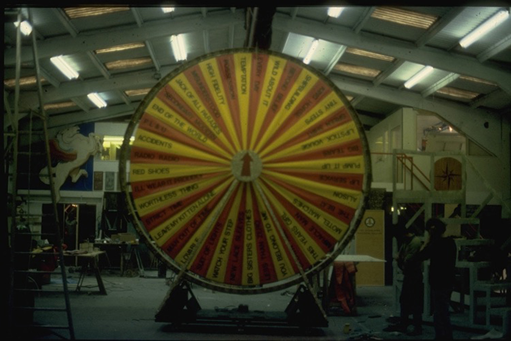 The original Songwheel at Kimpton-Walker workshop in 1983.