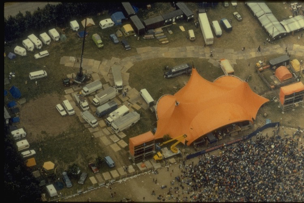 Backstage area 1980