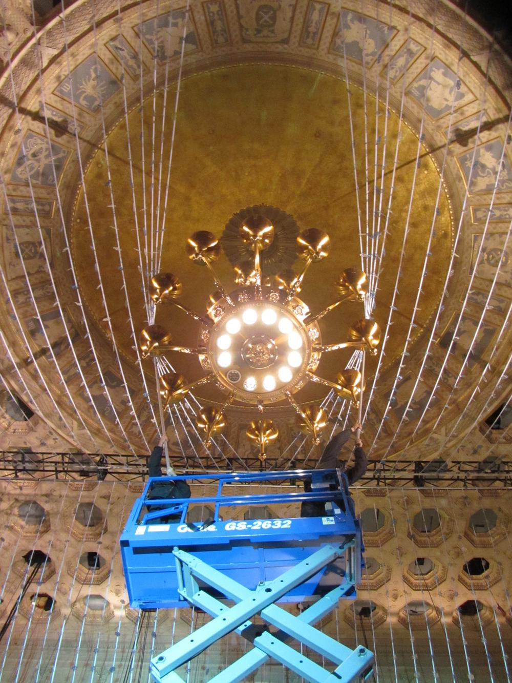 Negotiating the chandelier