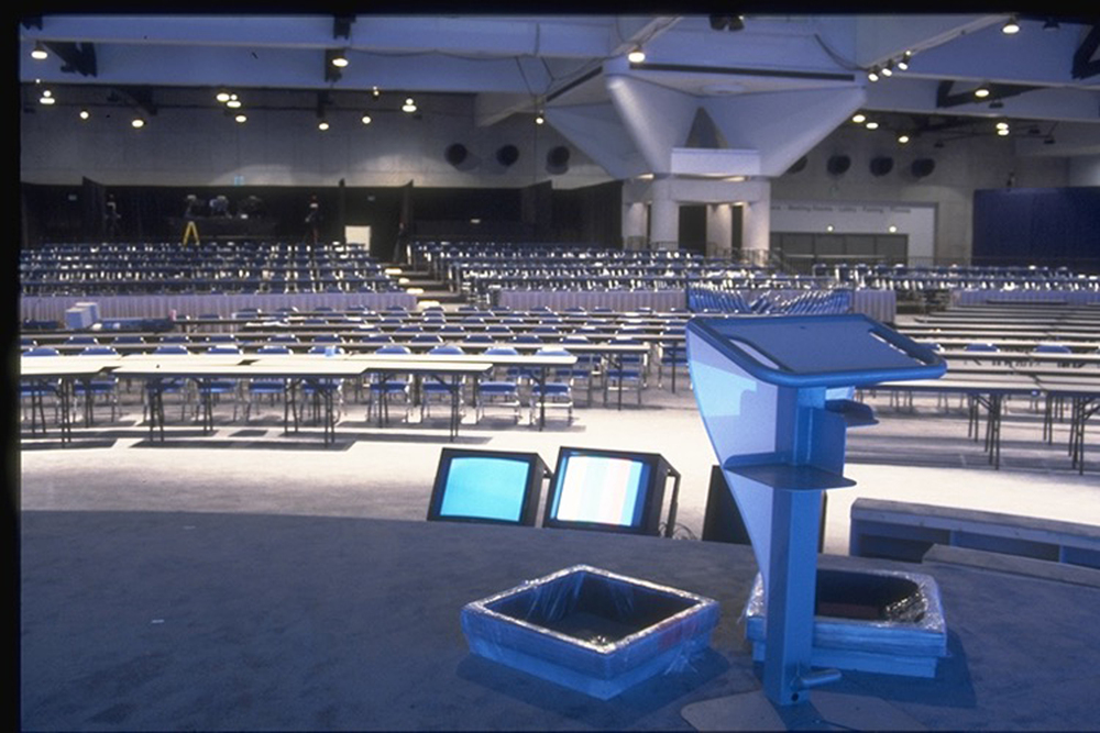 Pfizer Dealer Meeting - Auto-paint finish steel & plexiglas Lectern