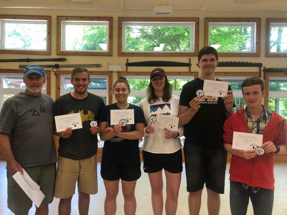 Our intrepid Camp Canoe Instructors this year, from left to right: Marty (the ORCKA instructor), Chris from Beacon, Julia from Beacon, Alex from Camp Crossroads, Matt from Beacon and Ben!