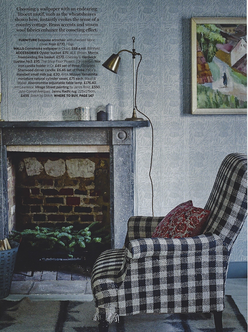 Homes & Gardens - Jan 2017 - 'The Look - Highland Folk' - Page 61 - Peggy Angus - Cornstooks - Wallpaper.jpg