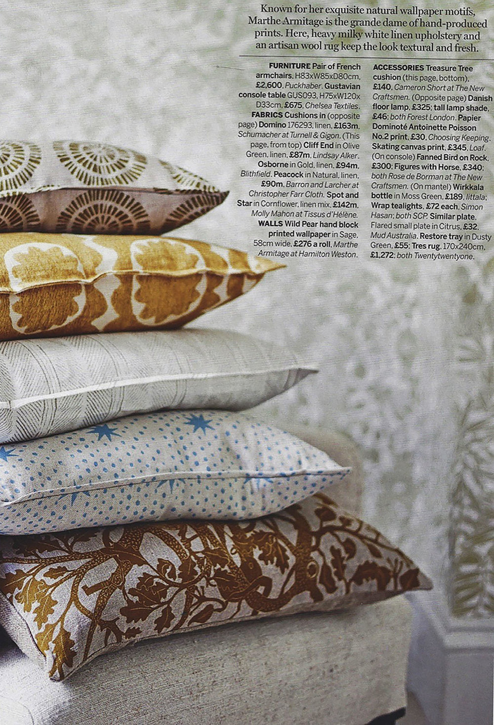 House & Gardens - Feb 2017 - 'Inspired by Block Prints' - Page 65 - Osborne - Gold.jpg