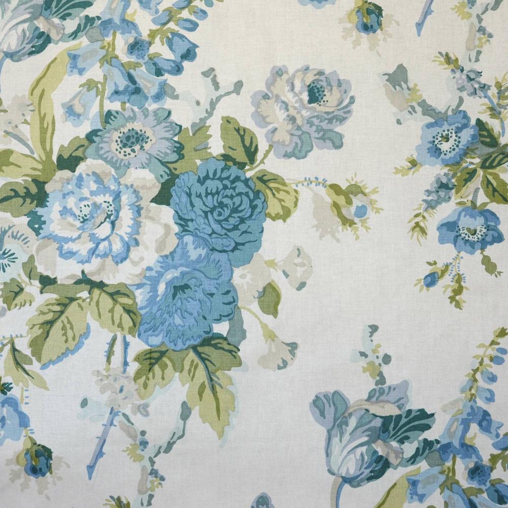 GRENVILLE blue/green/glazed chintz 5300-03 More →