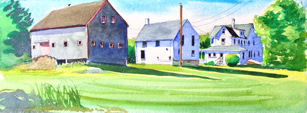Gatcombe farms, New Harbor Maine,WC on Arches CP paper