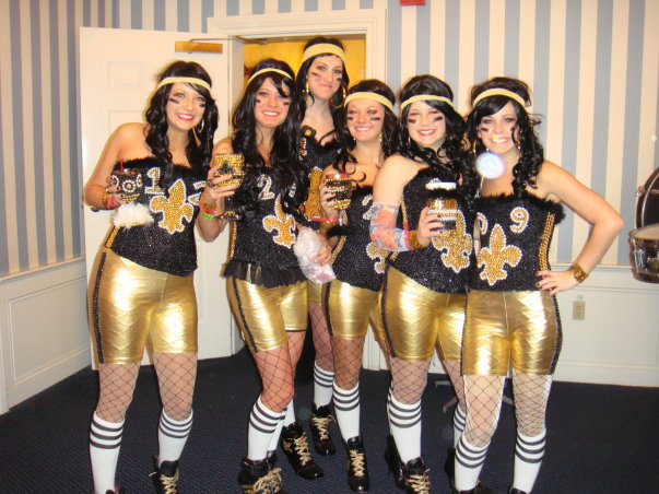2010: New Orleans Saints Superbowl Divas (we were babies!)