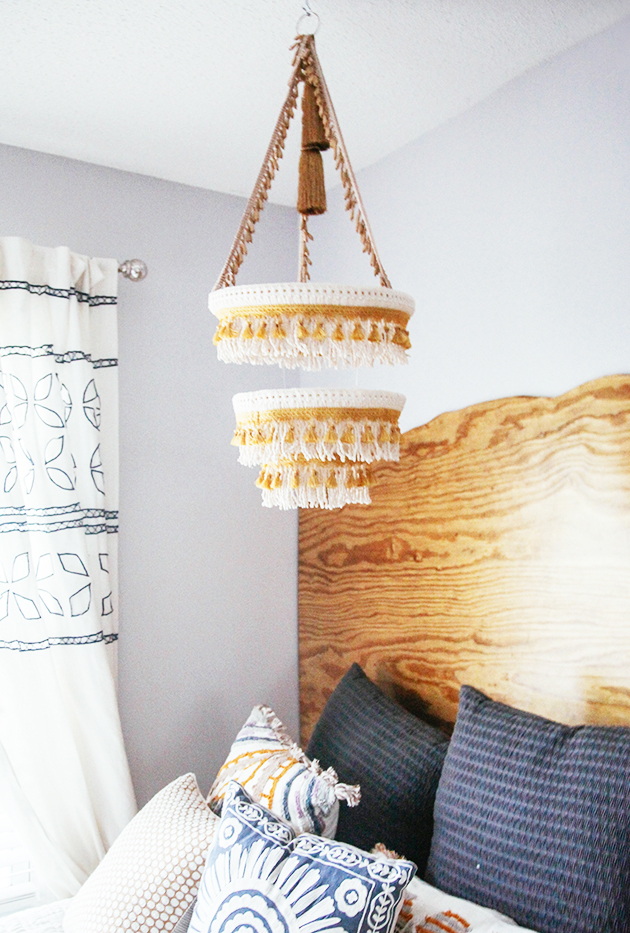 Great Boho Chandelier tutorial from In Honor of Design