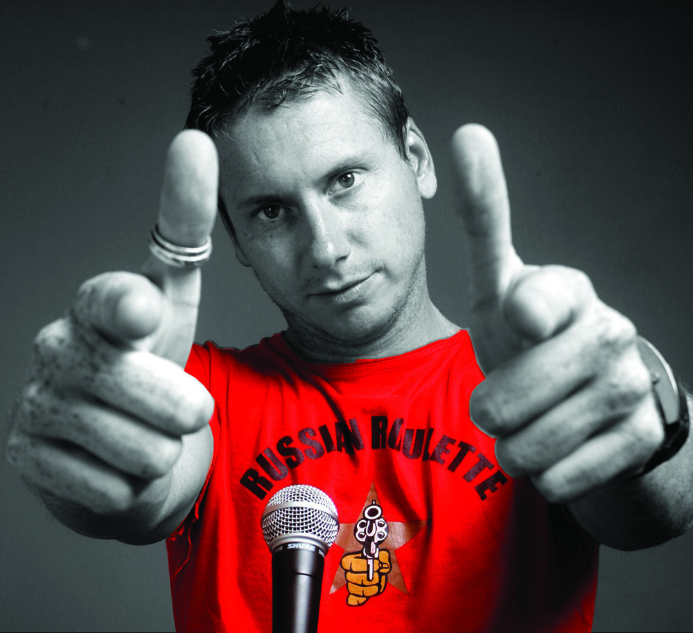 David Newton stand up comedy comedian pointing.jpg