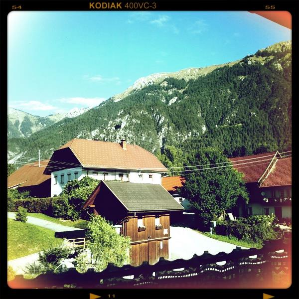 DAY 1: Arrived 7:45. View from the hotel in Austria.