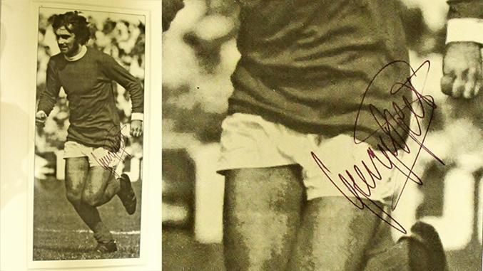 George Best Autograph