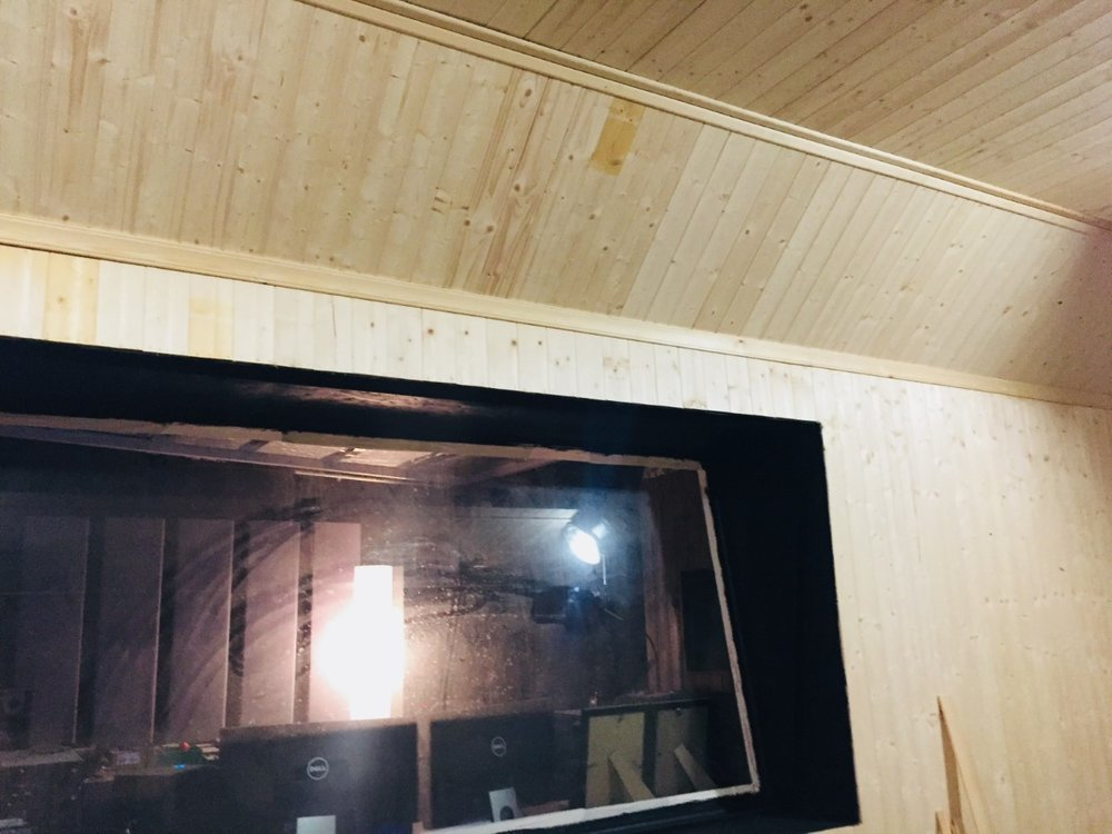 Woodwork on the Live Room ceiling. Yeah…the window needs cleaned.