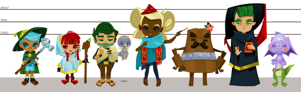 Work-in-Progress Characters for 'Archives of Wyndia'