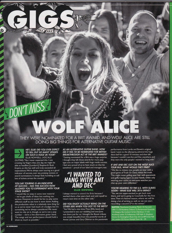 Wolf Alice / Kerrang!