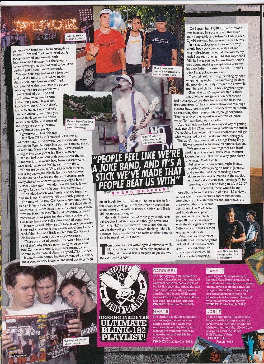 Blink-182 / Kerrang!