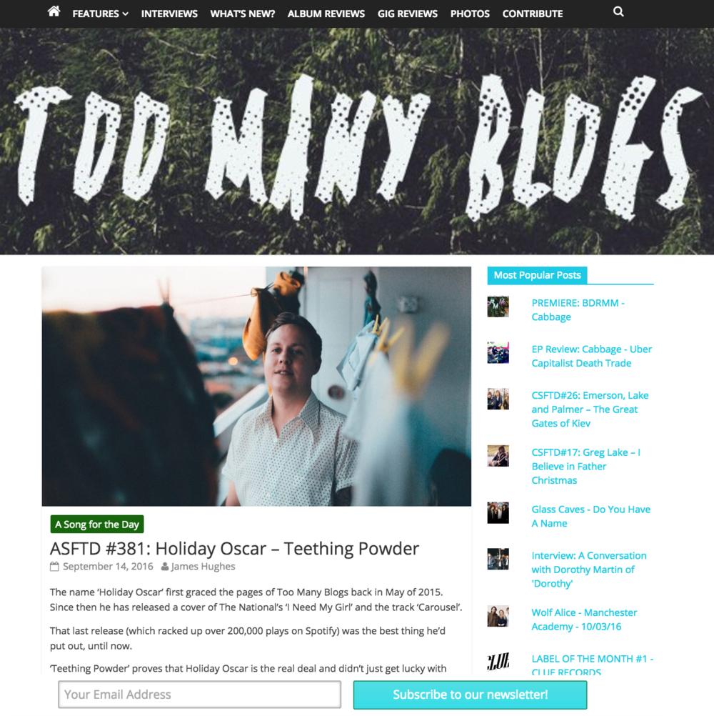 Holiday Oscar / Too Many Blogs