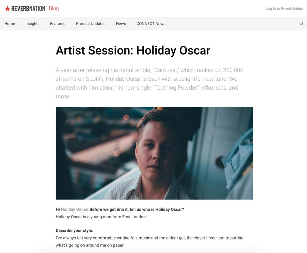 Holiday Oscar / ReverbNation