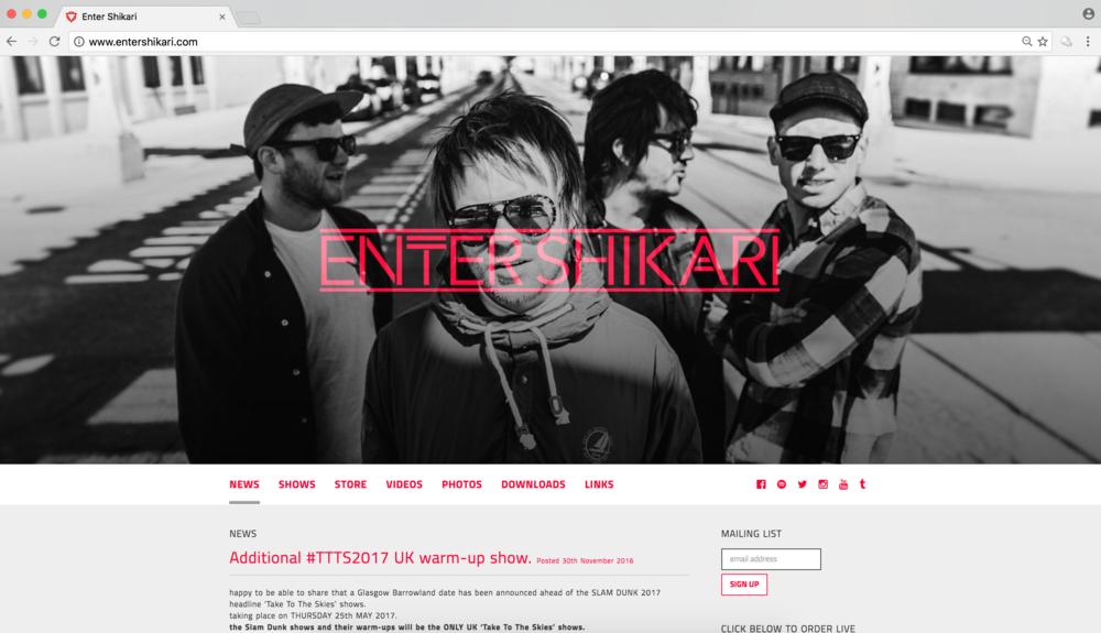 Enter Shikari / Website