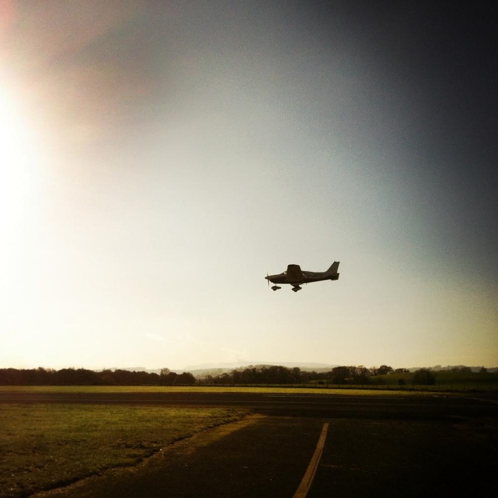 Piper 181 Landing St Angelo Airport, Enniskillen (Sound Ark 2014)